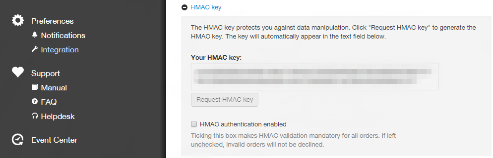 Admin 2.0 HMAC Key placement